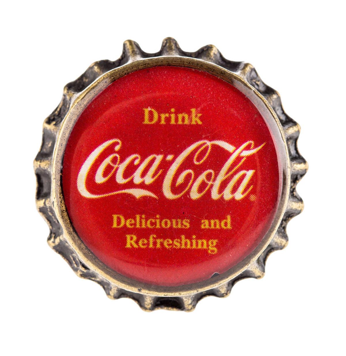 Coca-Cola Delicious & Refreshing Flessen Dop Kast - Lade Knop