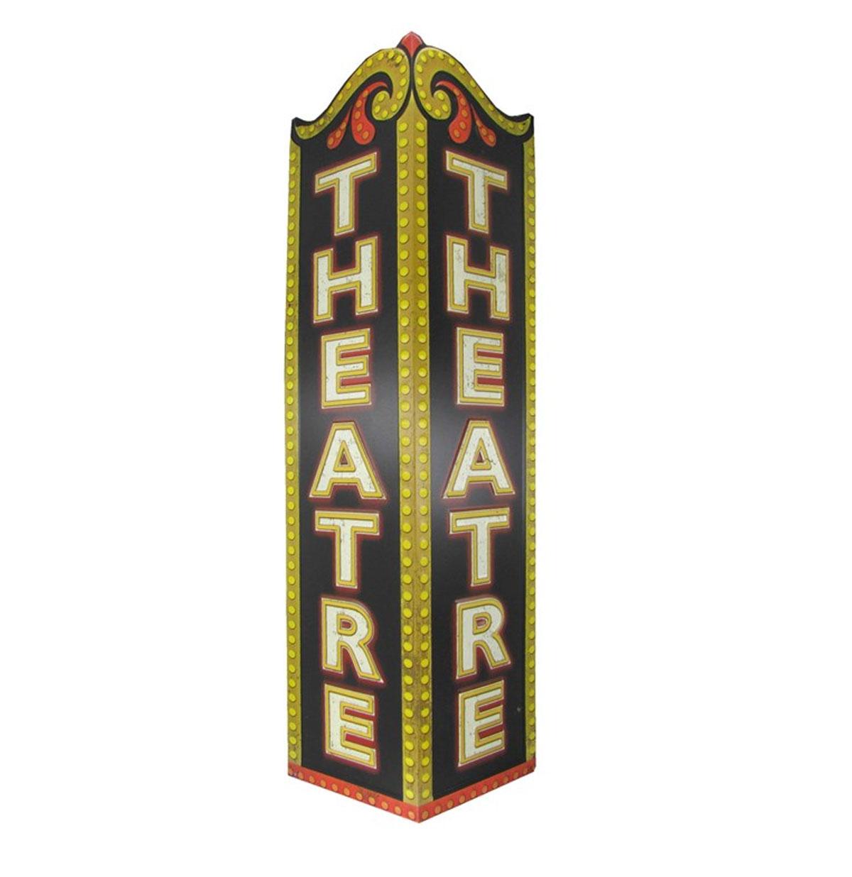 Theater Hoekvorm Embossed Metalen Bord