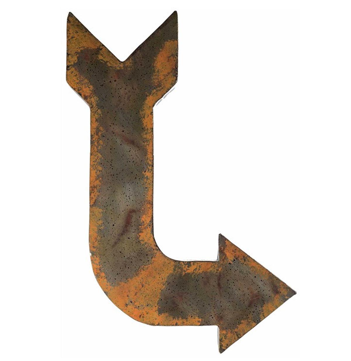 Rustic Metal Arrow Wall Decor