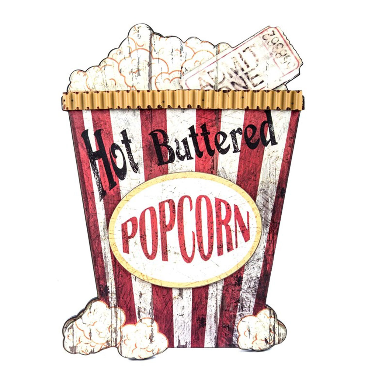 Hot Buttered Popcorn MDF Wand Bord
