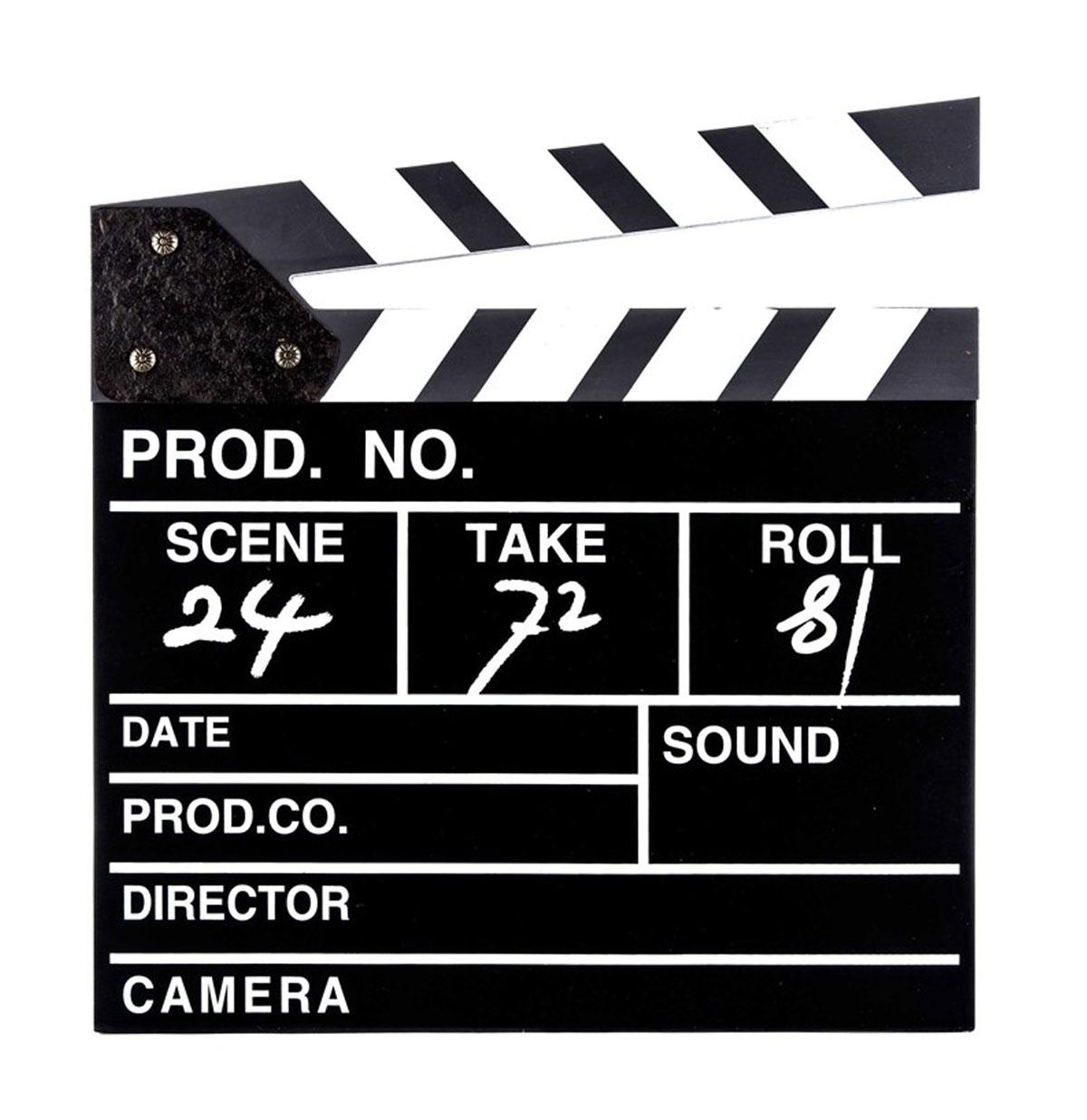 Zwart Wit MDF Film Klapper