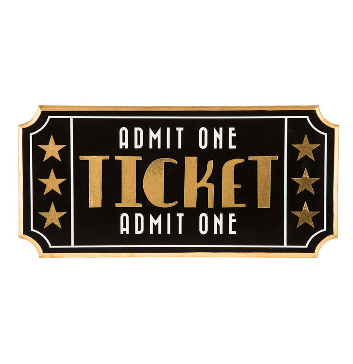 Movie Ticket Houten Wand Decor