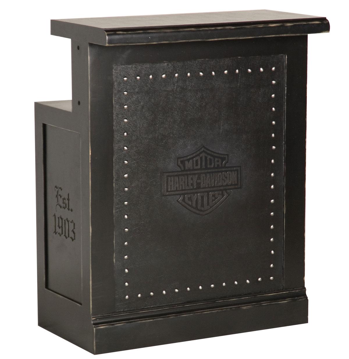Harley-Davidson Bar & Shield Flames Bar Return Zwart Vintage