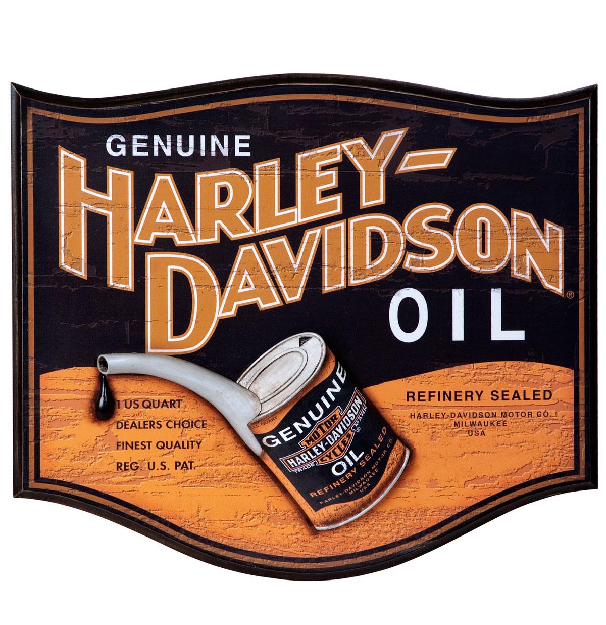 Harley-Davidson Oil Can Bar Deco Bord - LAATSTE KANS
