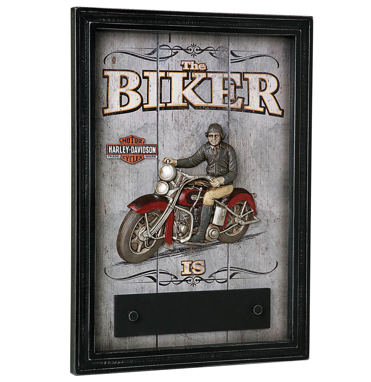 Harley-Davidson Biker In/Out Bar Deco Bord - LAATSTE KANS