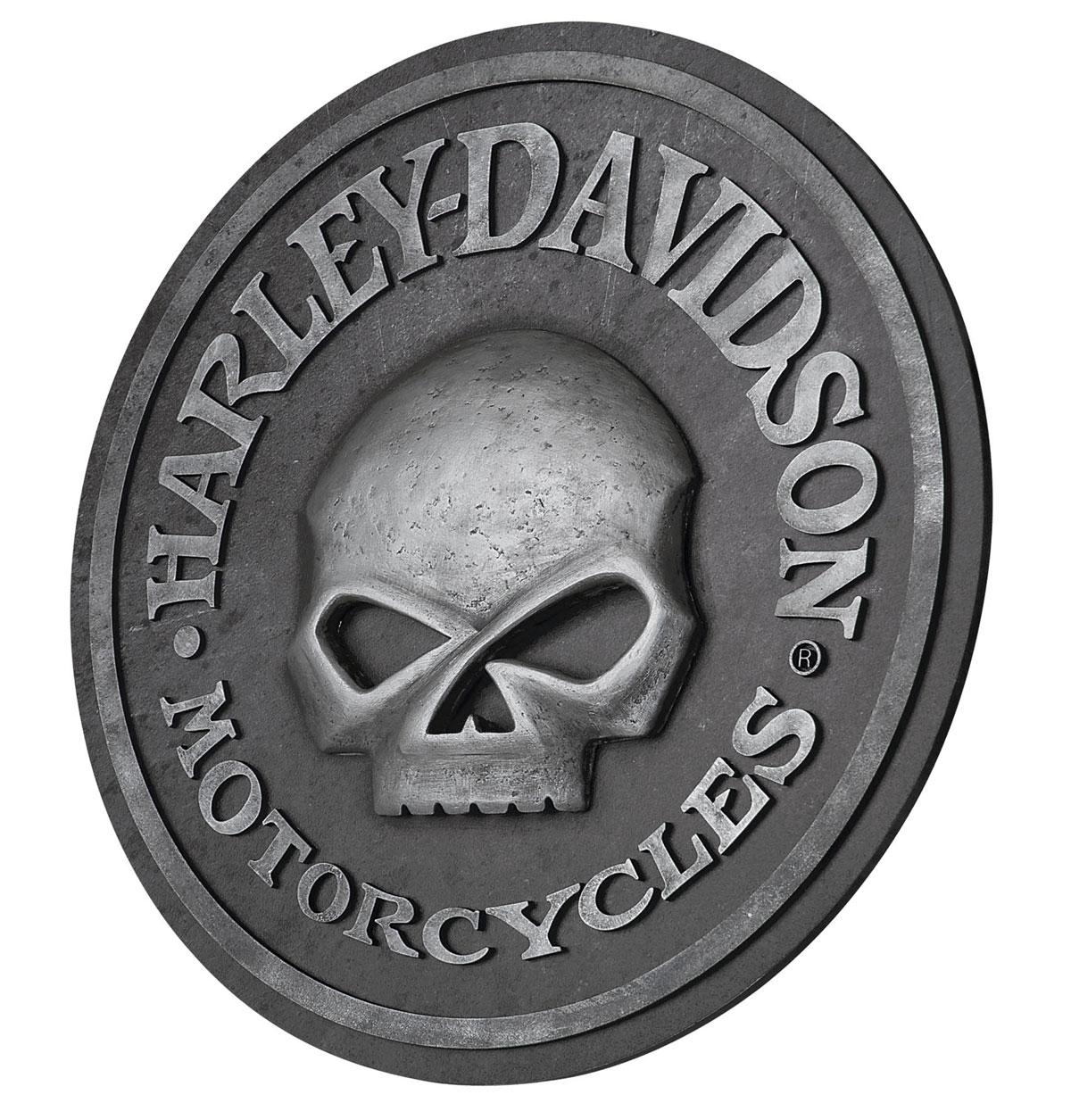 Harley-Davidson Motorcycles Skull Bar Bord