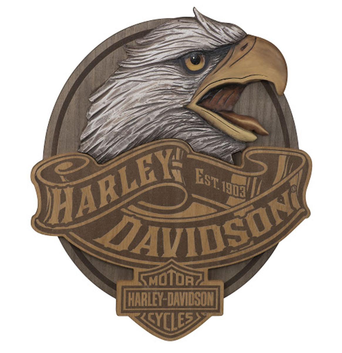Harley-Davidson Uitgesneden Adelaar Wandbord 48 x 57 cm