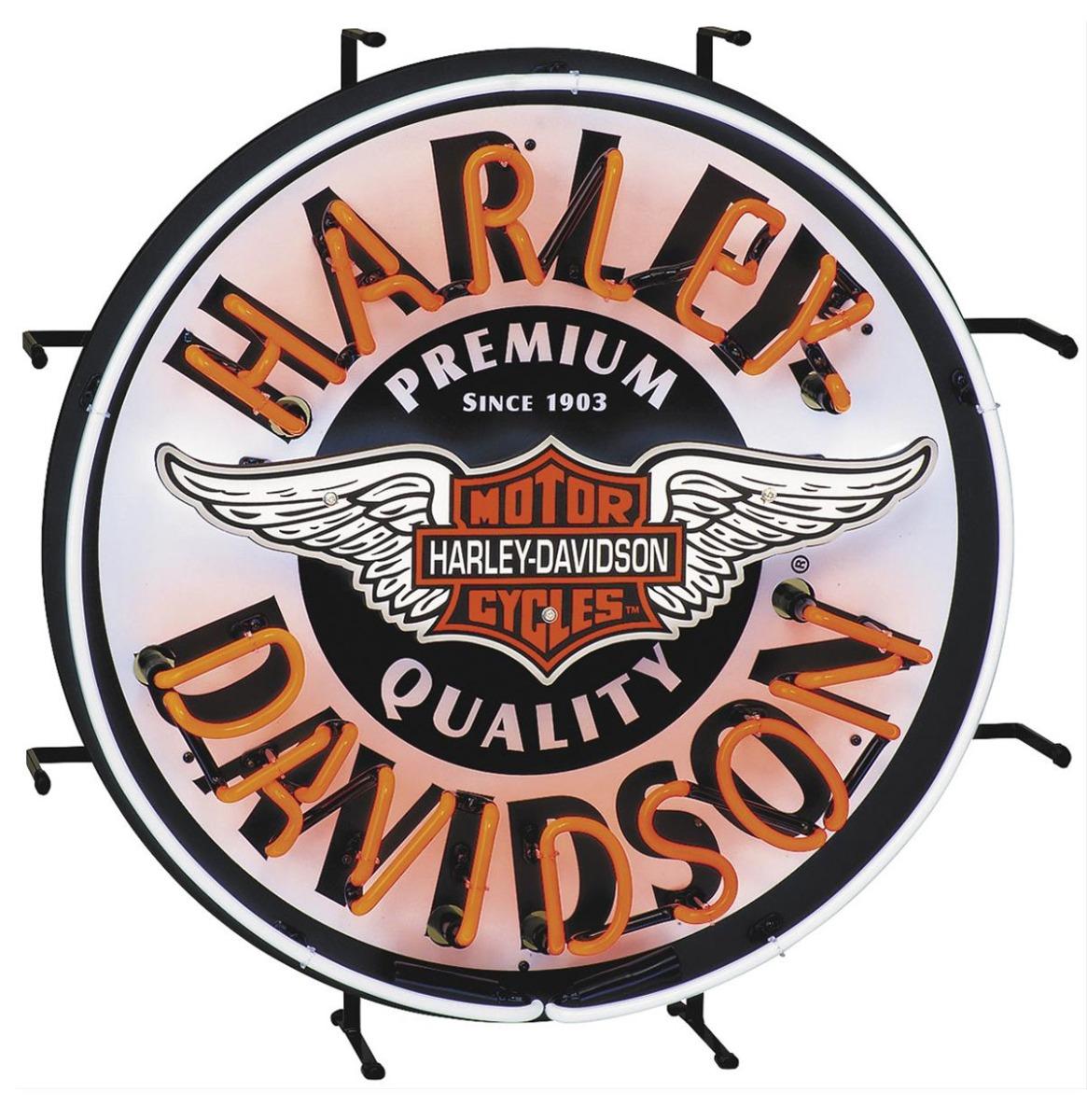 Harley-Davidson Winged Bar & Shield Neon Verlichting 60 cm - LAATSTE KANS, NIET MEER IN PRODUCTIE