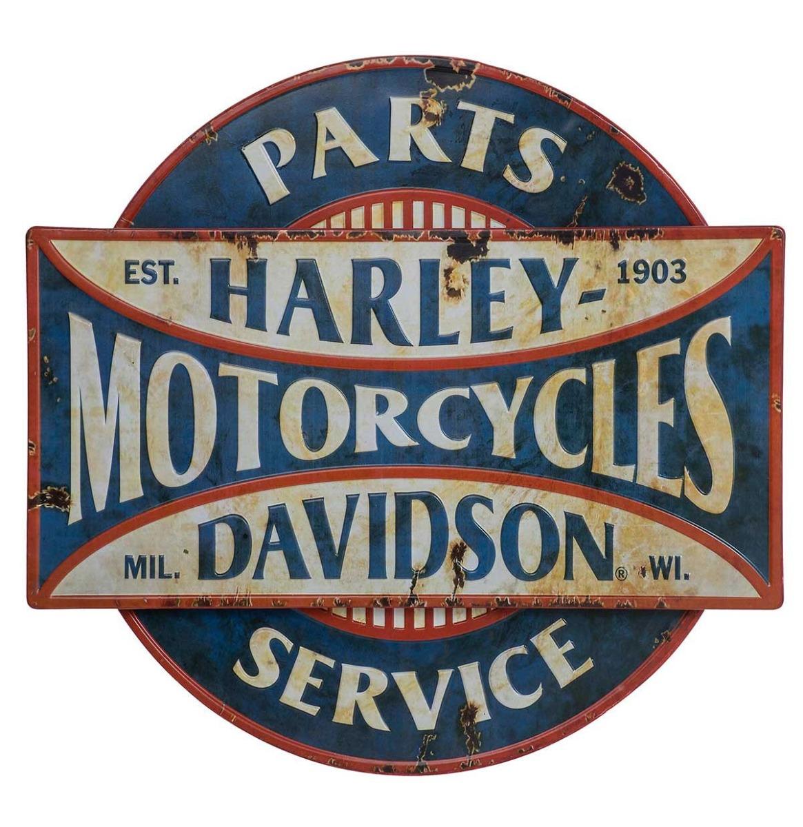 Harley-Davidson Parts & Service Metalen Bord