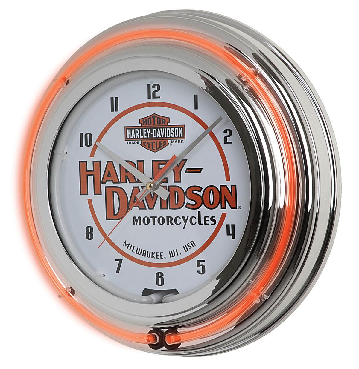 Harley-Davidson Motorcycles Double Neon Klok