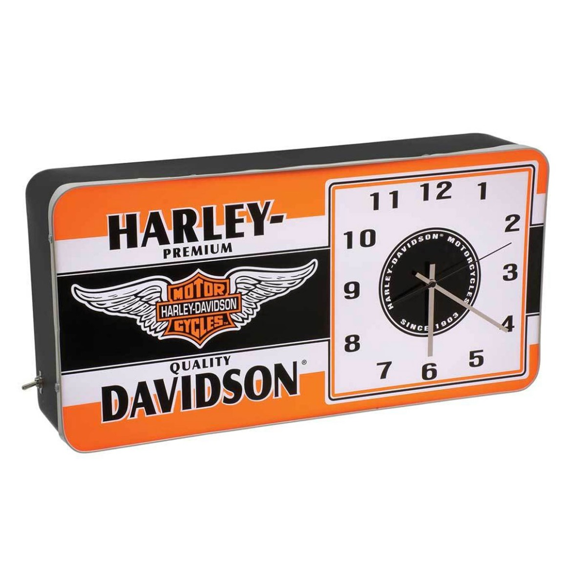 Harley-Davidson Winged Logo LED Reklame Klok - 220V
