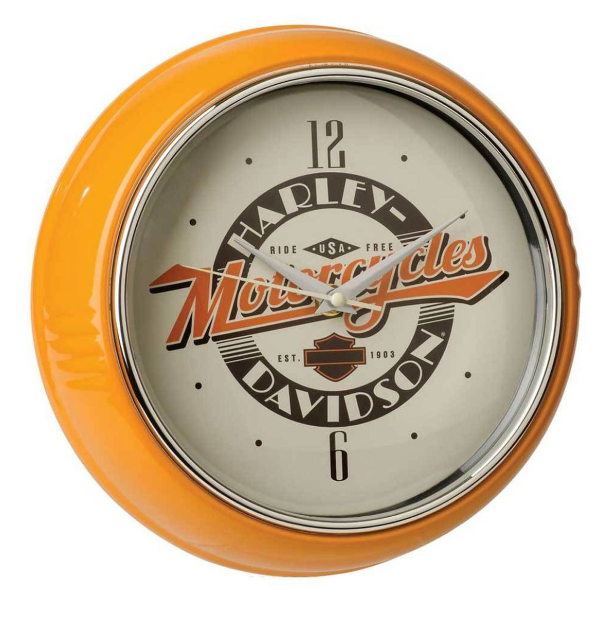 Harley-Davidson Ride Free Retro Diner Klok 24 cm
