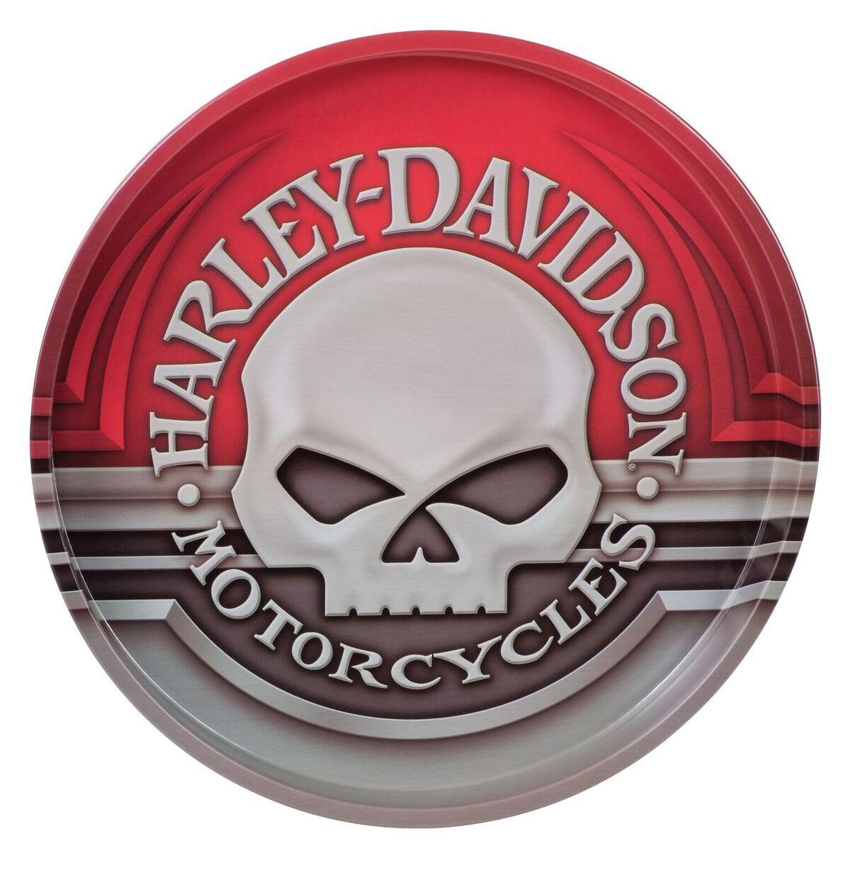 Harley-Davidson Schedel Tinnen Dienblad -LAATSTE KANS