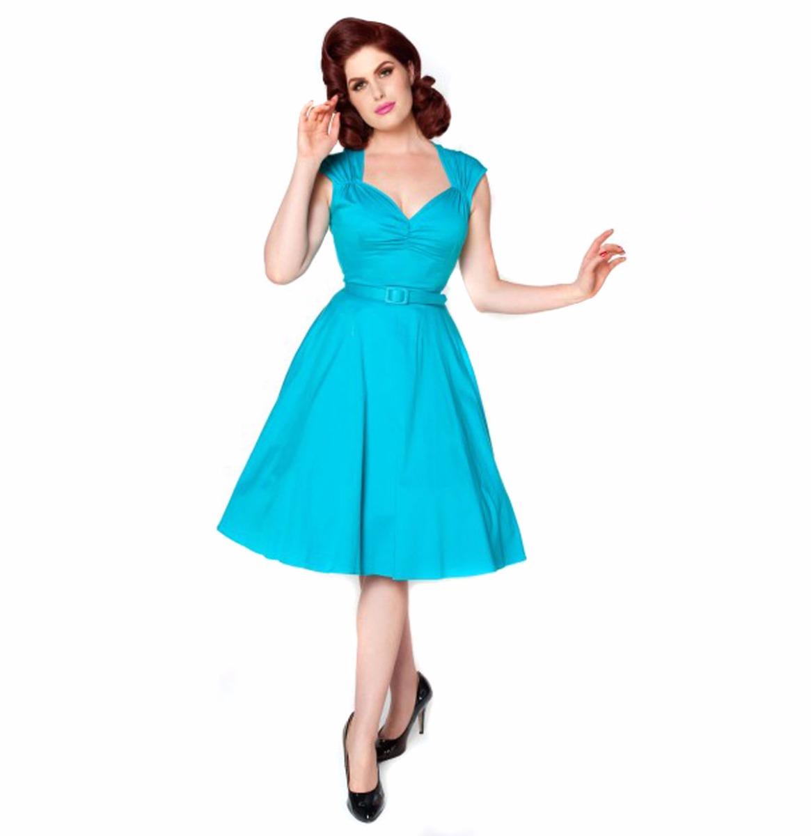 Pinup Couture Heidi Jurk, Bright Blauw