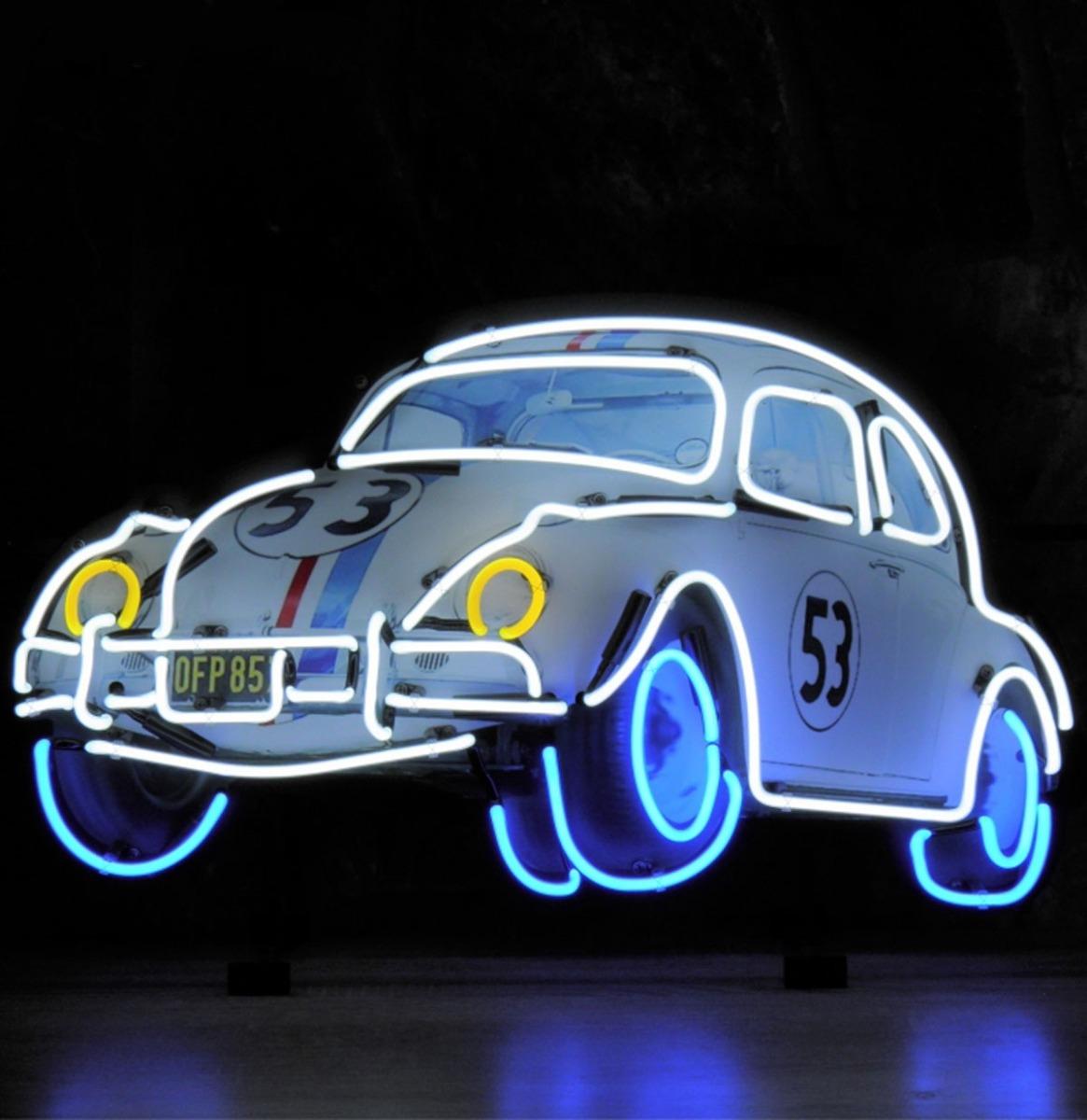 Herbie The Love Bug Neon Verlichting 75 x 45 cm