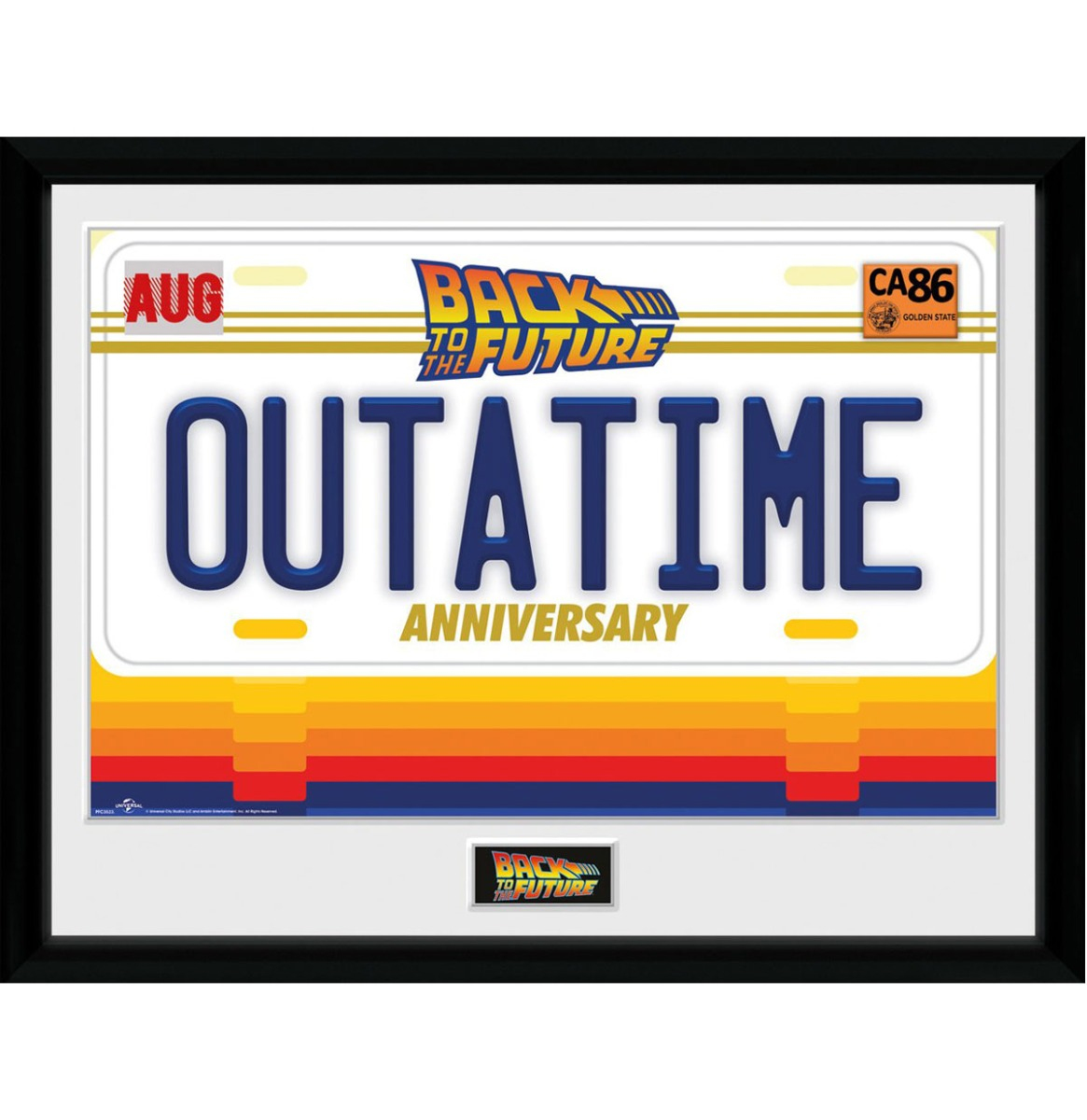 Back to the Future: 35th Anniversary Outatime 30 x 40 cm Collector Afdruk