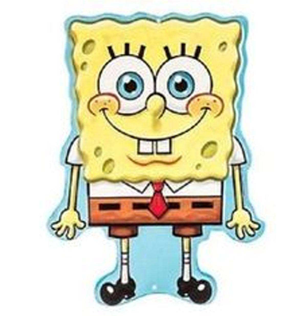 Spongebob Reliëf Tinnen Bord