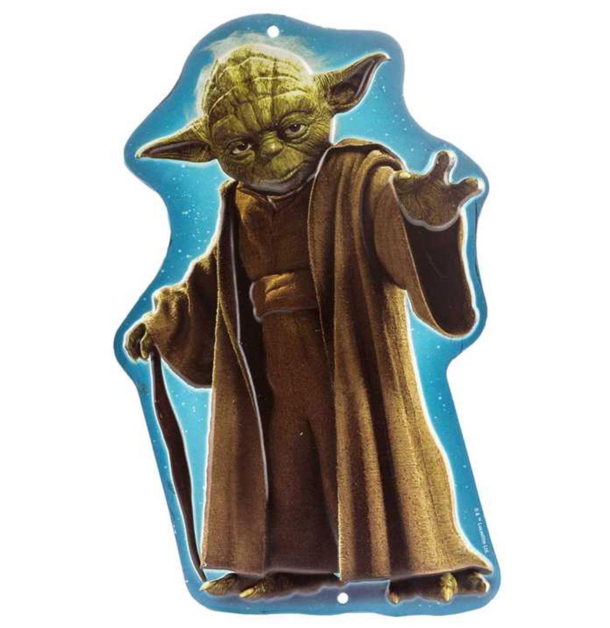 Star Wars Yoda Reliëf Tinnen Bord