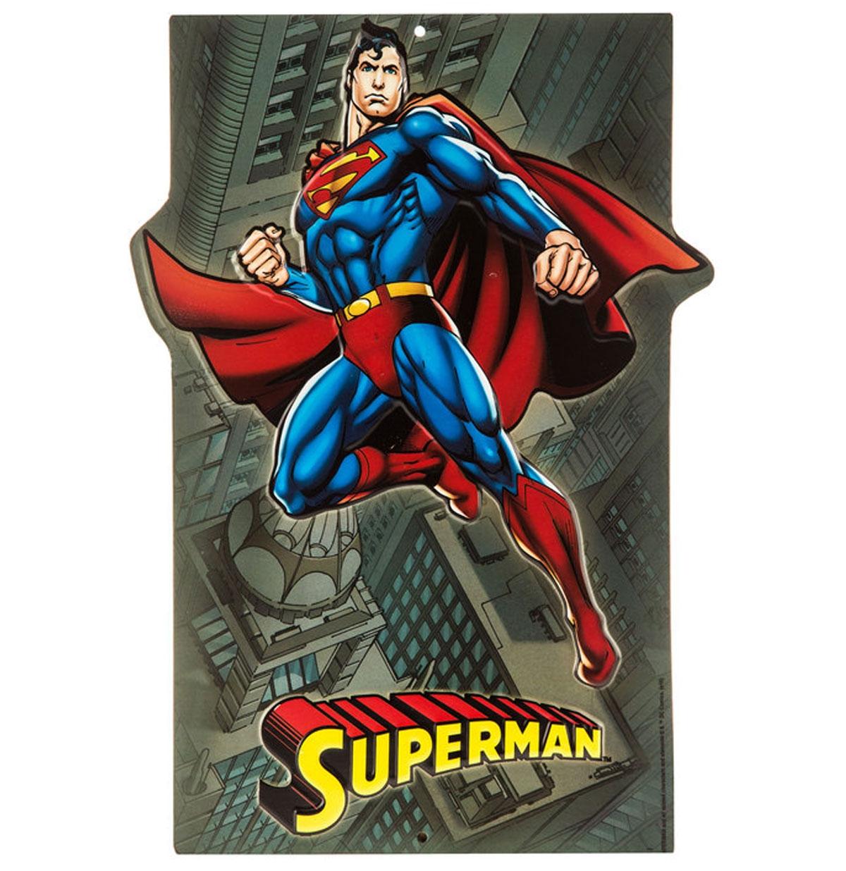 Superman Embossed Metal Sign 32 x 23 cm