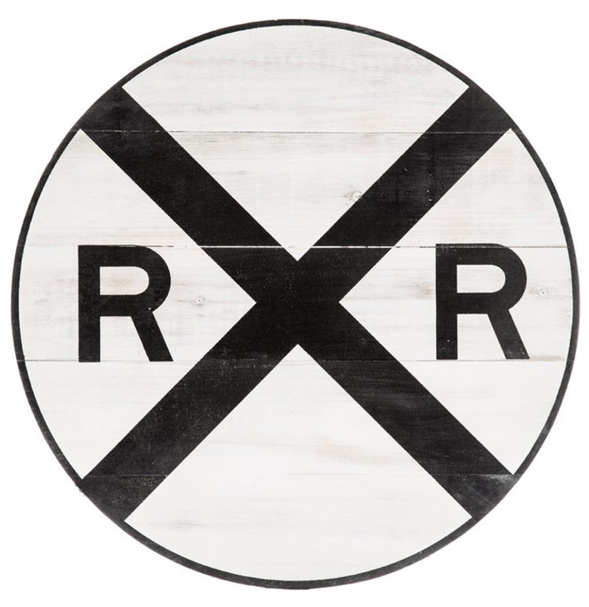 Railroad Crossing Houten Bord