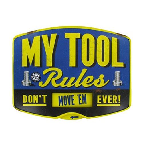 My Tool Rules metalen bord met draaischijf