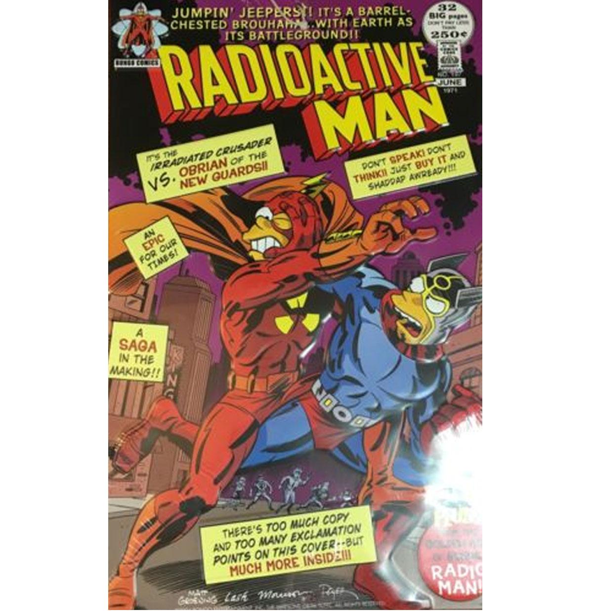 Radioactive Man Relief Tinnen Bord