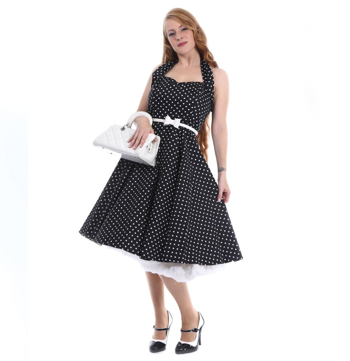 Dots Dress Black
