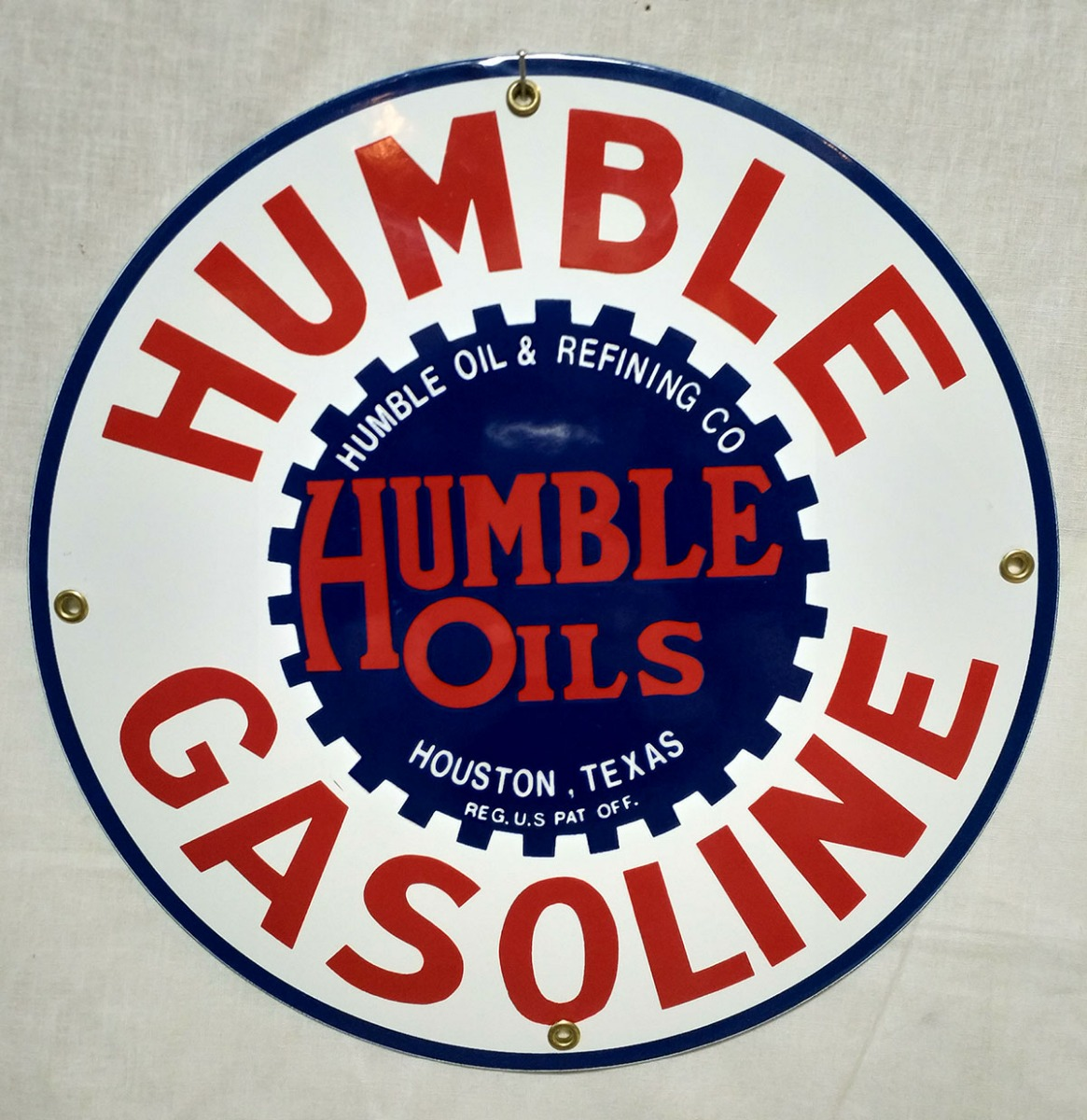 Humble Gasoline Emaille Bord