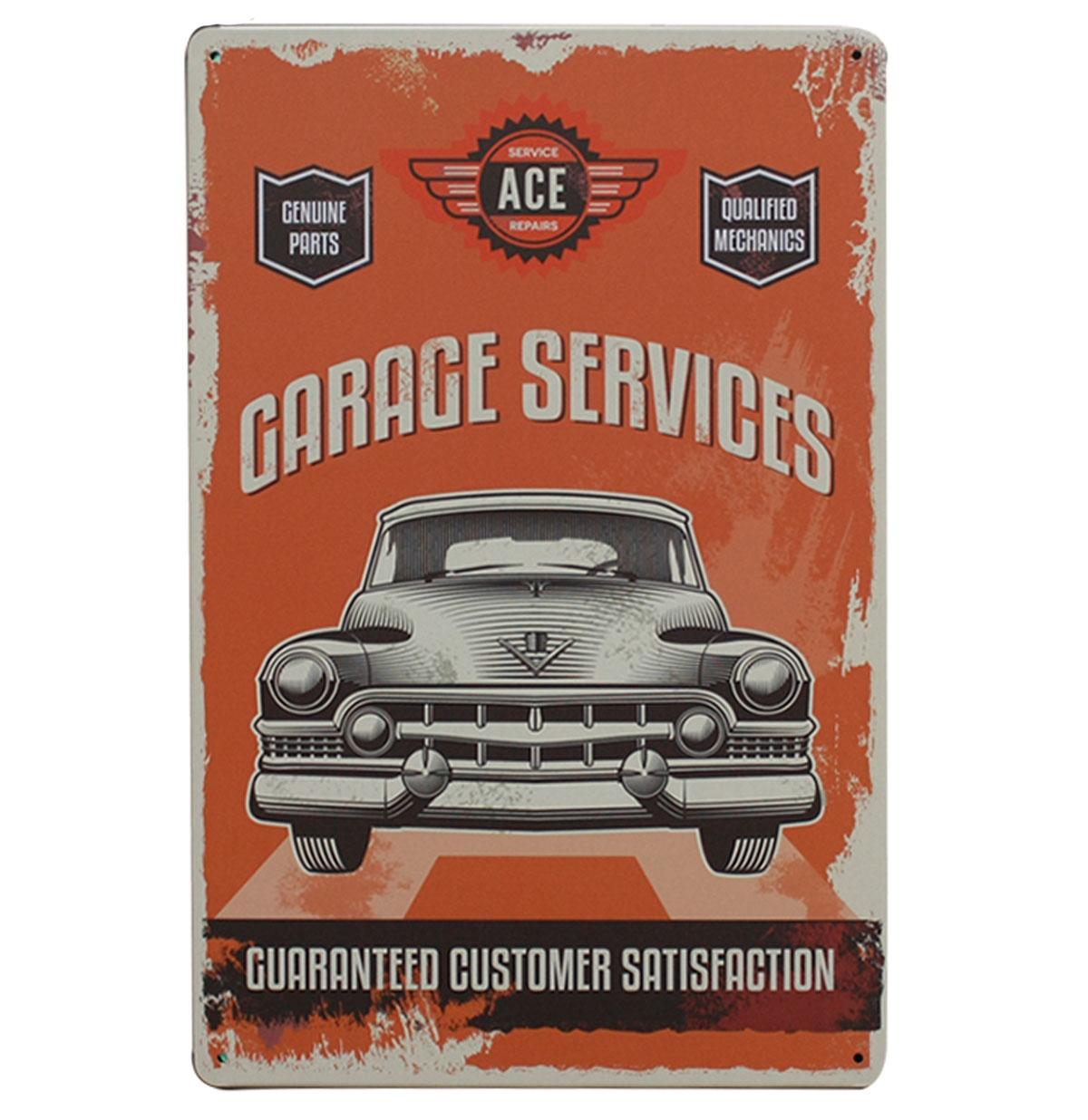 Garage Services Customer Satisfaction Metalen Bord 20 x 30 cm