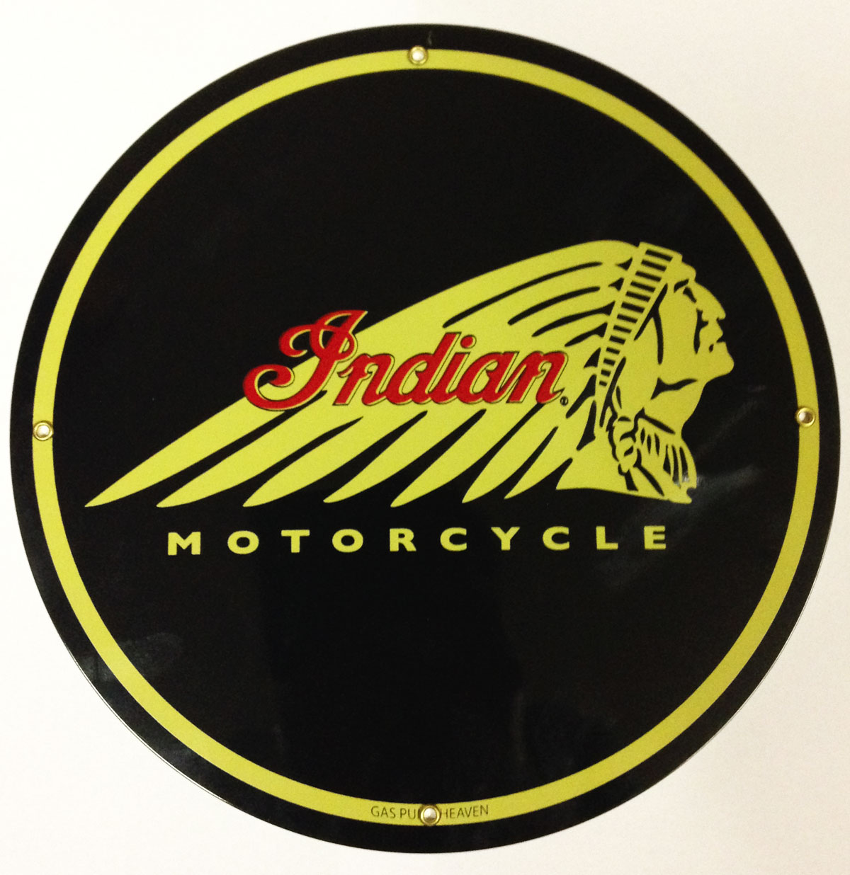 Indian Motorcycles rond metalen Logobord