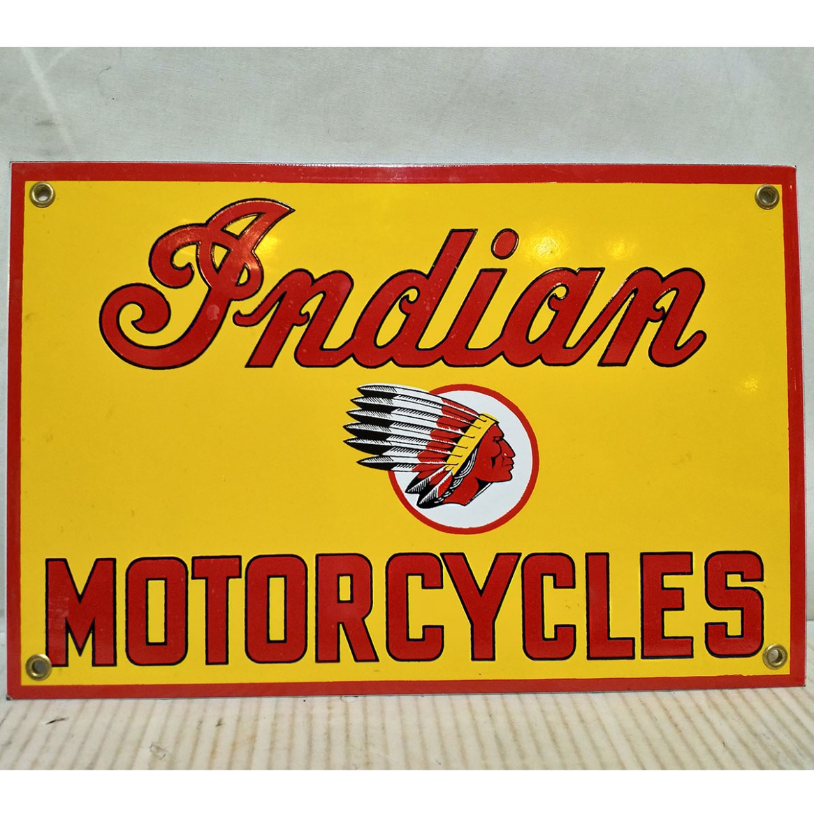 Indian Motorcycles Emaille Bord Rechthoek