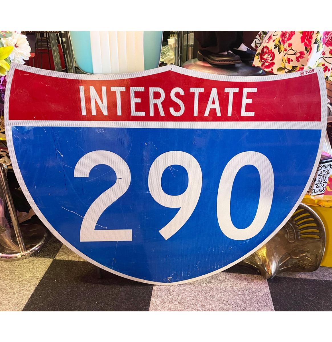 Interstate 290 XL Snelweg Bord 114 x 92 cm