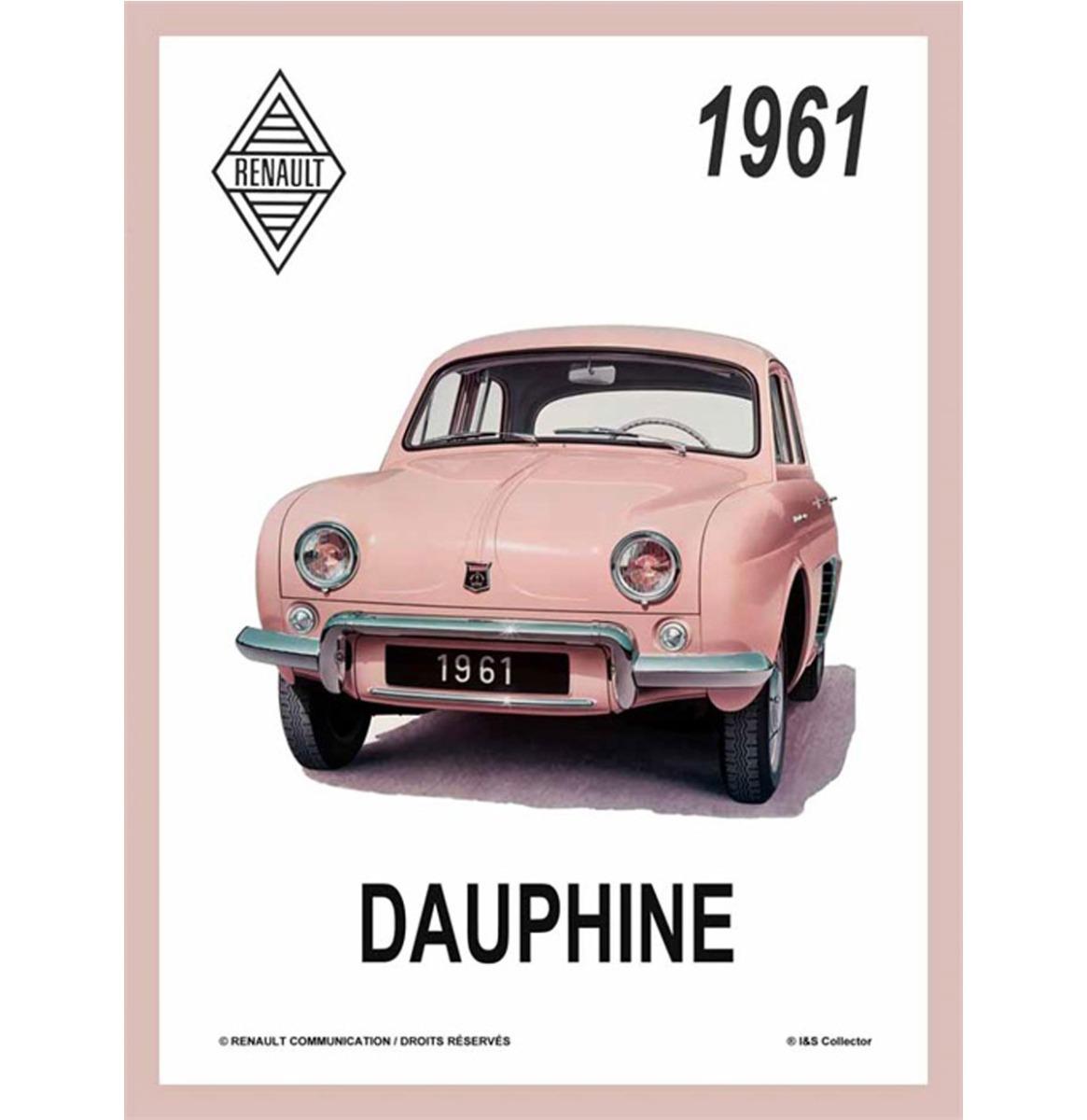 Metalen Bord 30x40 Renault Dauphine Affiche