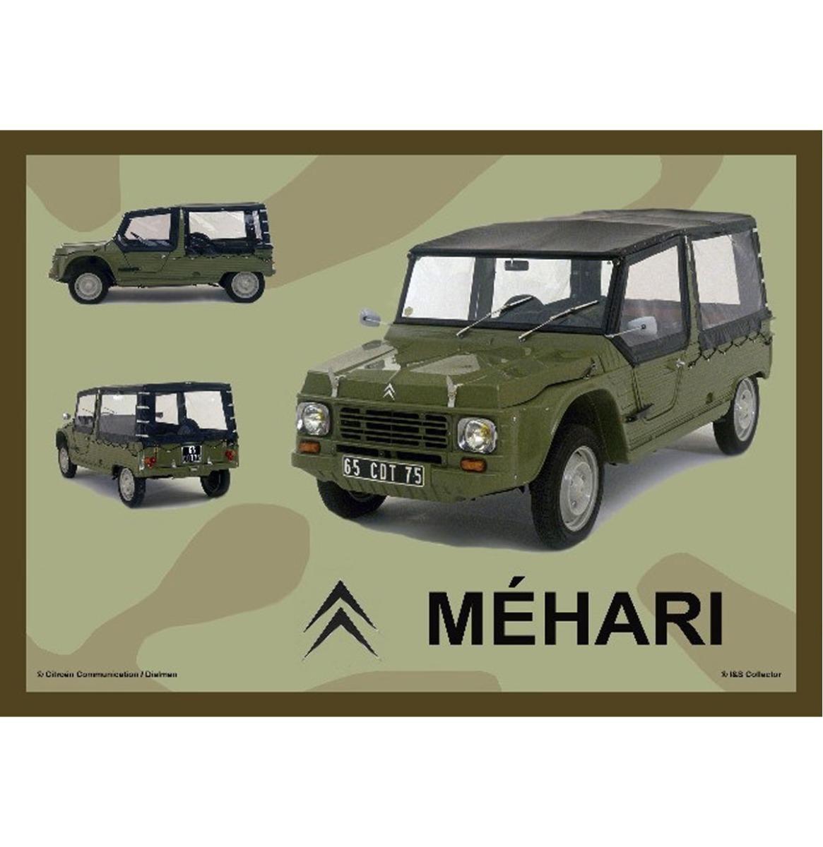 Metalen Bord 30x40 Citroen Mehari