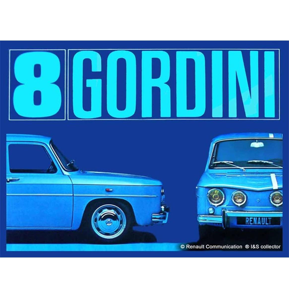 Metalen Bord 30x40 Renault 8 Gordini R