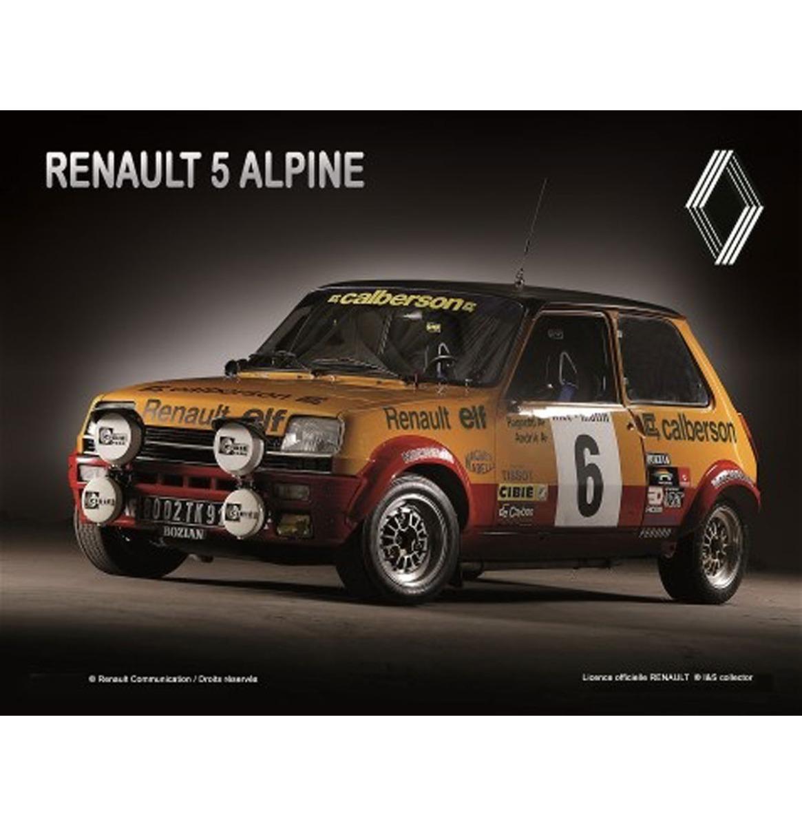 Metalen Bord 40x30cm Renault R5 Alpine Calberson