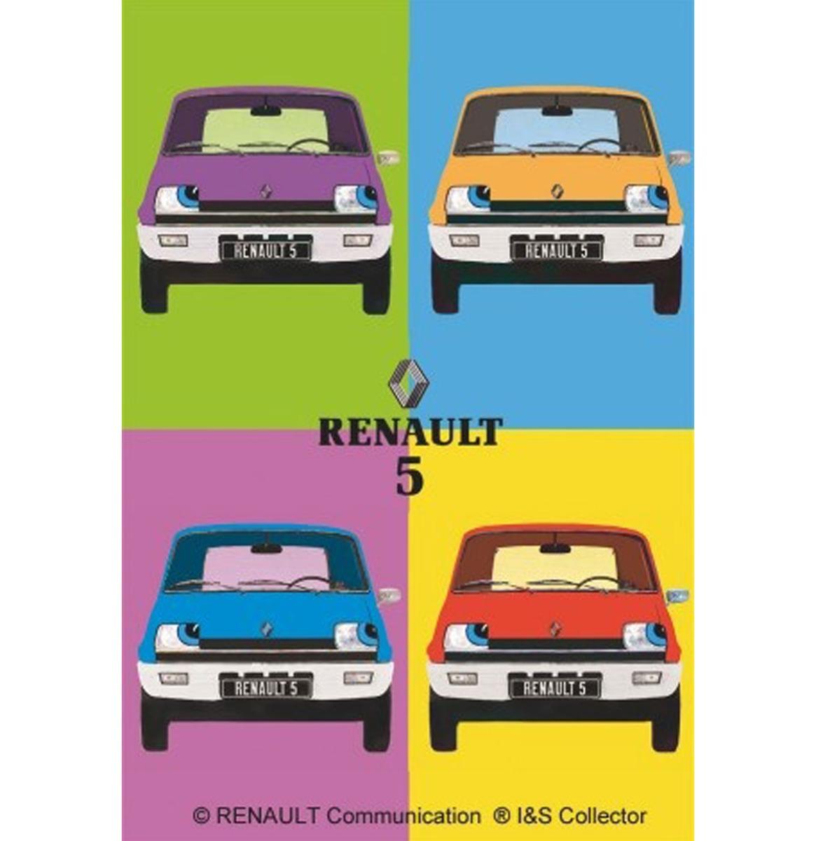 Metalen Bord 30x40 Renault R5 Pop Art