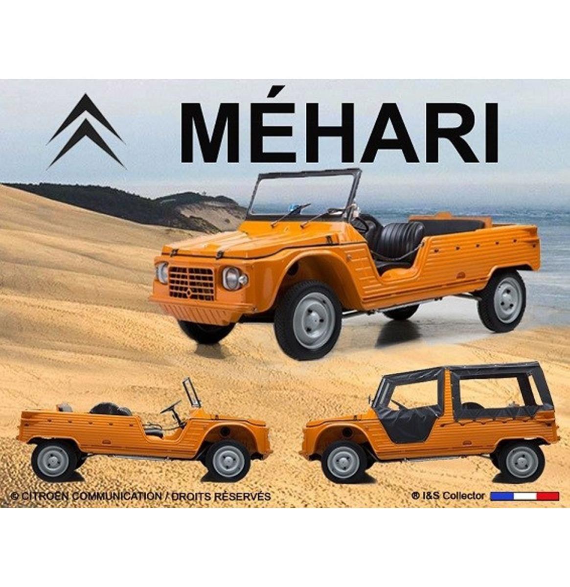 Metalen Bord 40x30cm Citroën Mehari plage