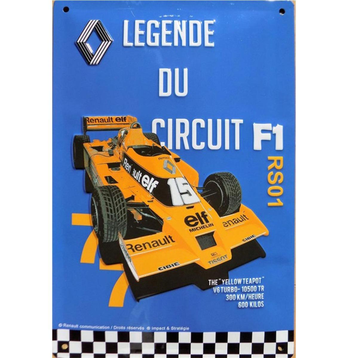 Metalen Bord RA 40x30cm Renault F1 Legende