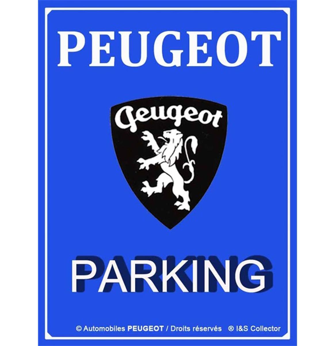 Metalen Bord 30x40 Peugeot Parking