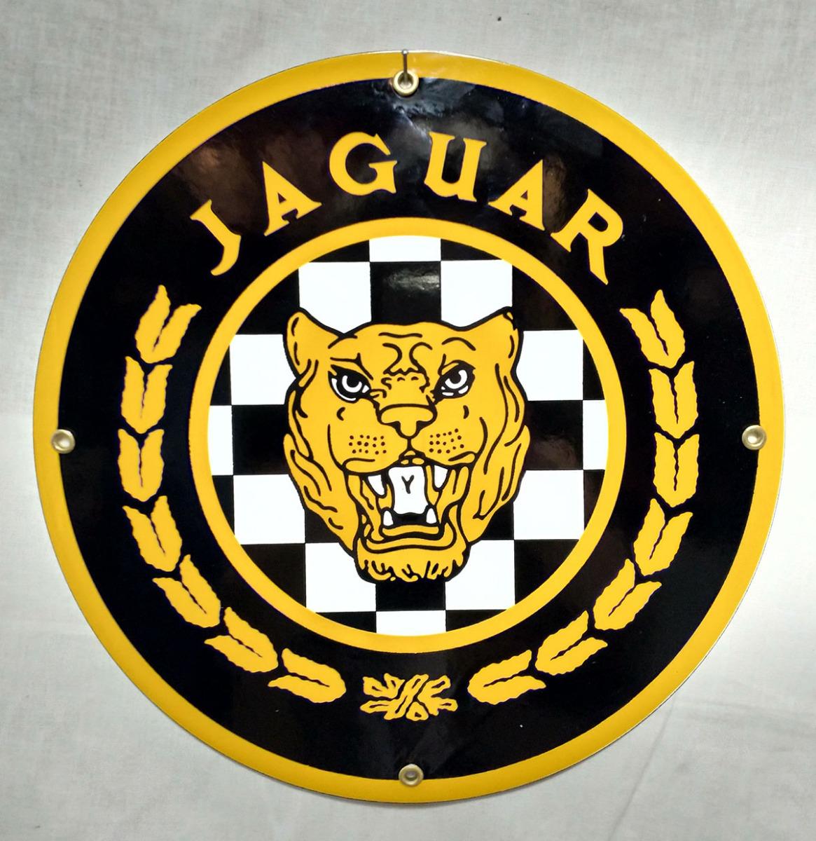 Jaguar Emaille bord