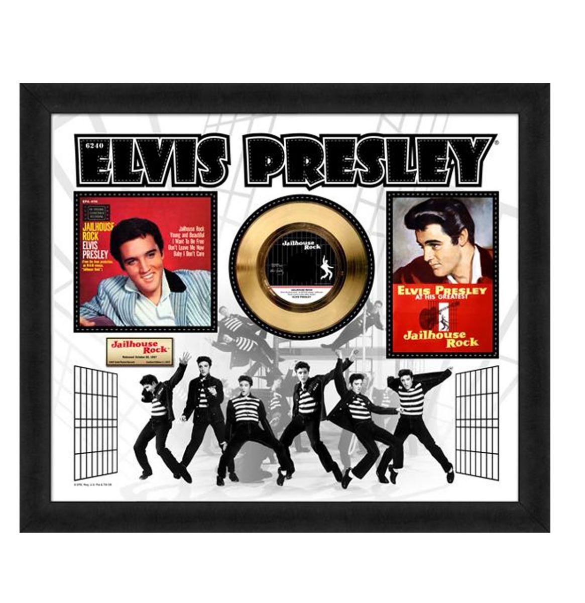 Elvis Presley - Jailhouse Rock Gouden Plaat 24KT