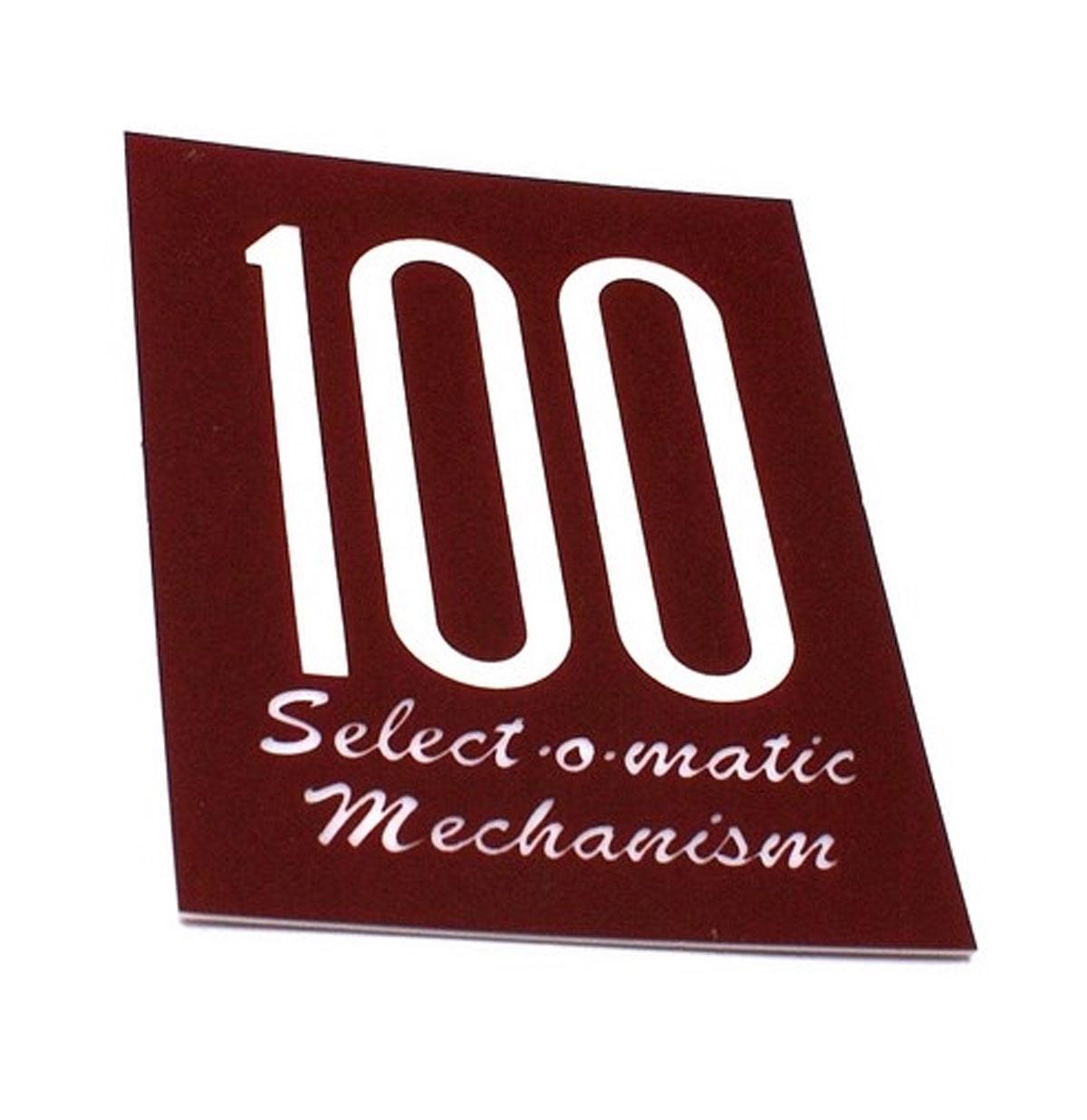Seeburg 100A kaartje mechaniek kap 100 Select-O-Matic