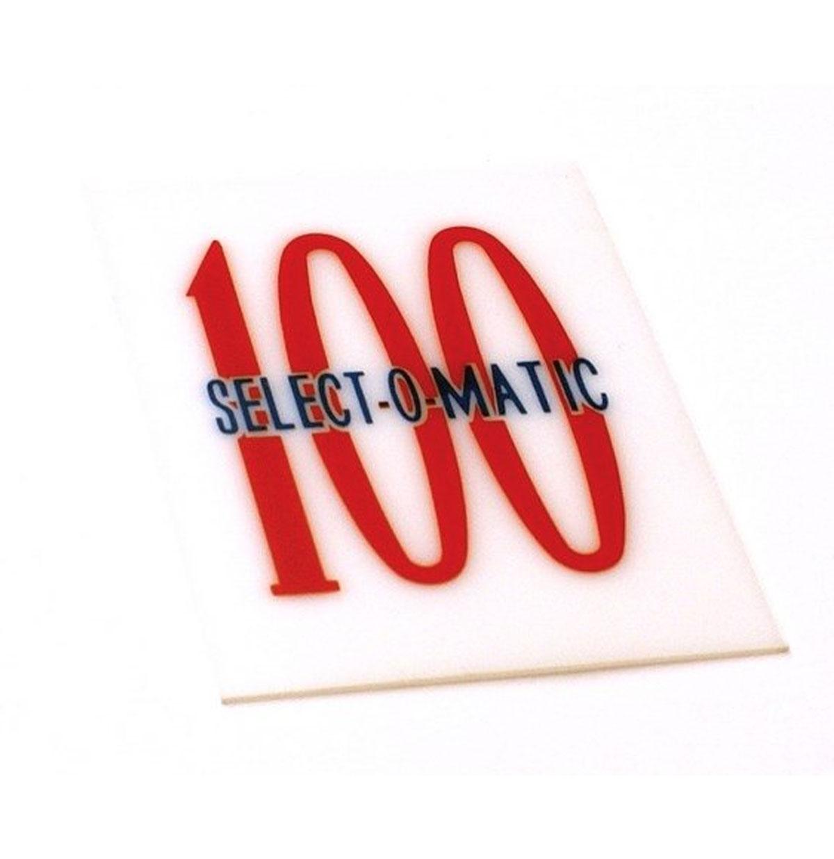 Seeburg 100 G/W kaartje mechaniek kap 100 Select-O-Matic