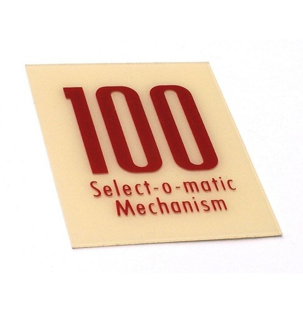 Seeburg 100C kaartje mechaniek kap 100 Select-O-Matic