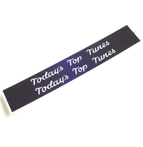 Wurlitzer 2000 classificatie strips Top Tunes (zwart)