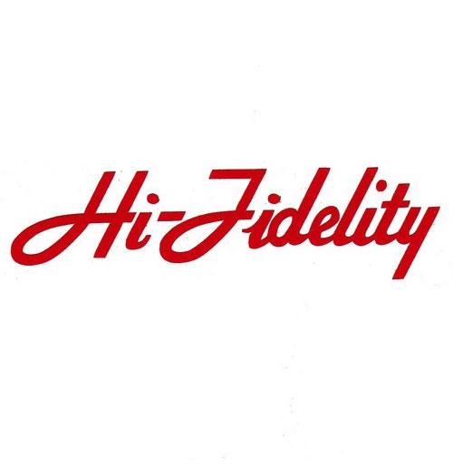 Wurlitzer 1800 Hi-Fidelity Sticker Rood