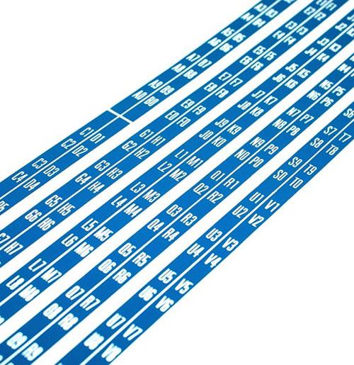 Wurlitzer 2300 - 2400 stickers titelkaart bordjes