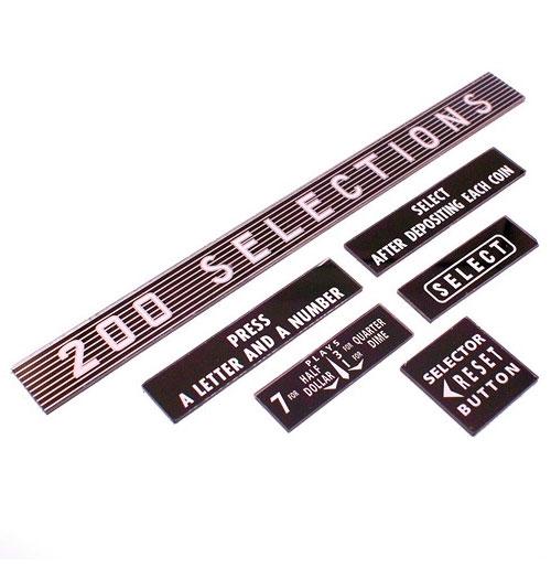 Wurlitzer 2000 instructie glaasjes (6 stuks)