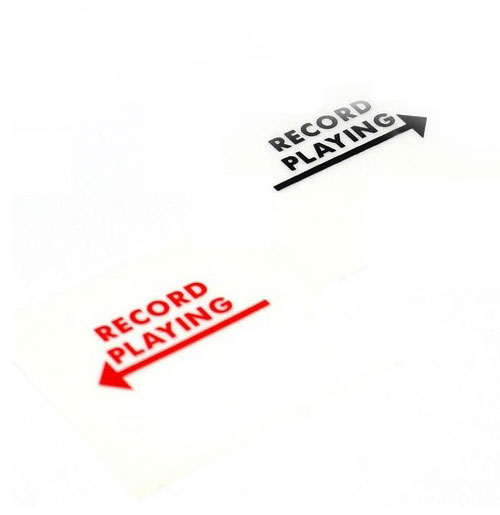 Wurlitzer stickers Record Playing links en rechts mechaniek